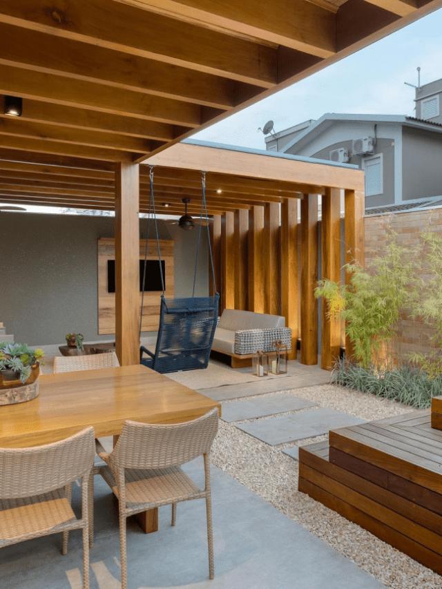 12 espaços externos de lazer em casa que são muito criativos