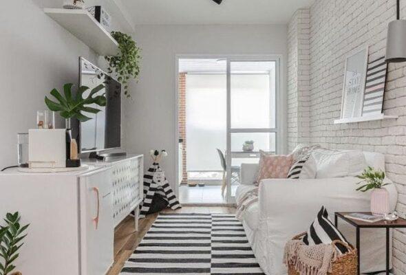 70 ideias de decorações estilosas para sala de apartamento pequeno
