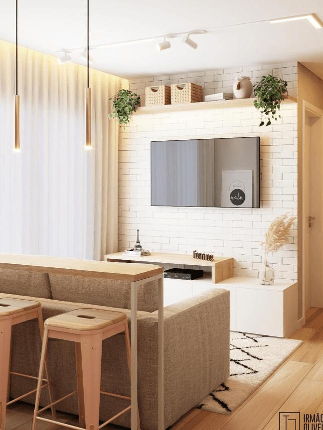 10 projetos de salas pequenas, aconchegantes e modernas
