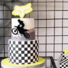 50 ideias de bolo de moto que mostram a liberdade sobre duas rodas